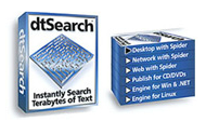 dtSearch Desktop with Spider Image